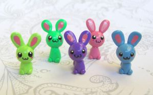 Happy Little Bunnies by DragonsAndBeasties