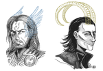 Avengers: Thor and Loki by monkette