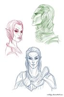 skyrim faces 2 by Milulya