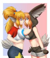 Cabbit Girls - Akiko and Tiffany 2 by Kojiro-Brushard