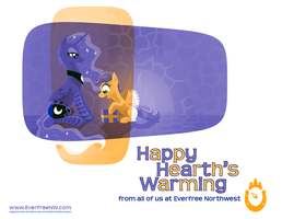 Happy Hearth's Warming From Everfree Northwest by Pedantia