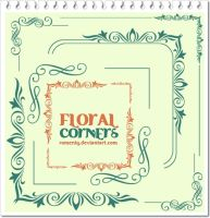 Floral Corners brushes by Romenig
