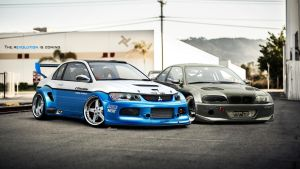 EVO vs BMW  VT / Project 22 by LancerKAGE