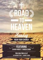 Road to Heaven - Flyer Template by VectorMediaGR