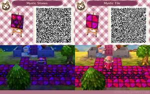 ACNL QR Code - Mystic Stones and Tile by TehZee