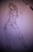Harley WIP (cowgirl, native american) by rickystinger88