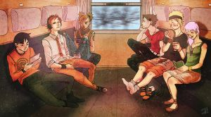 Naruto: Train Journey by niemtold