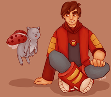 Bravest Warriors | Danny and Catbug by Lazorite