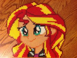 {Perler} Sunset Shimmer Headshot by OddishCrafts