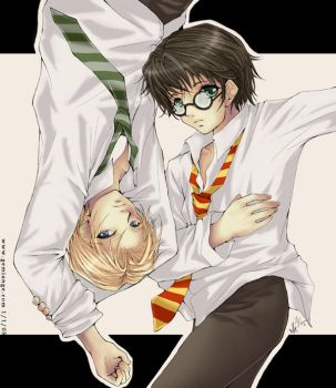 Draco and Harry - Prize pic by gemiange