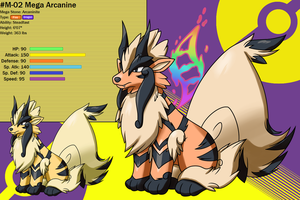 Chushin Pokedex - M 02 - Mega Arcanine by Inika-Hero