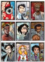 Sketchcards - More Heroes by JeremyTreece