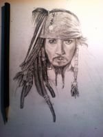 Captain Jack Sparrow - WIP by Red-Szajn