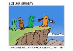 Mum Flies by Size-And-Stupidity