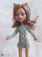 Cable sweater for Monster high by kivrin82