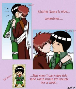 Kissing Gaara... by fortykoubuns