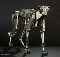 Mechanical metal cheetah three quarter by Andrew-Chase