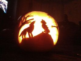 the wolves pumpkin by prettyeyedjade