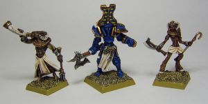 MORDHEIM Chaos Marauders' Beastmen and Champion by FraterSINISTER