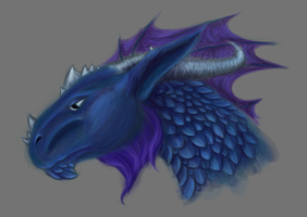 Dragon head by Samantha-dragon