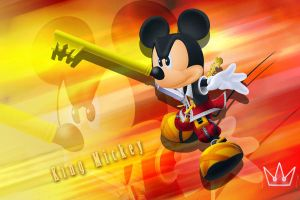 Kingdom Hearts King Mickey by LumenArtist