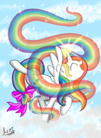 Rainbow embrace by Chocolatechilla
