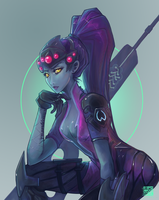 OVERWATCH: widowmaker by liea