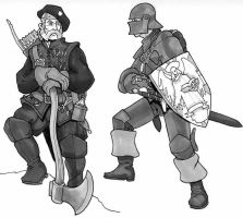 Ranger and paladin by Pachycrocuta