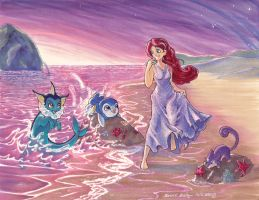 Ariel Commission FINALLY DONE by karookachoo
