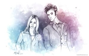 The Doctor and Rose Wallpaper pack by ichabod1799