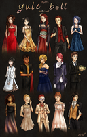 IB: Yule Ball Outfits I by Everluffen