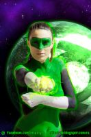 Green Lantern Bodypaint by NiliaStyle