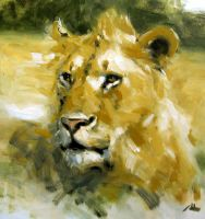 lion in honest strokes by alrasyid