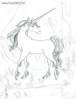 Unicorn Pencil sketch by tursiart