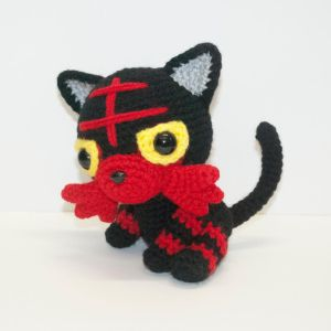Litten by Heartstringcrochet