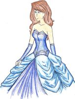 blue dress Design by Ara-bell