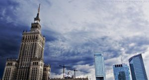 Palace and Warsaw centre by gregivan