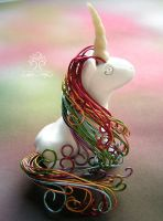 Little Unicorn by RachaelsWireGarden