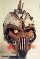 Steam Freak LIGHT UP Steampunk helmet by TwoHornsUnited