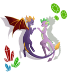 Spyro And Spike by Moruro