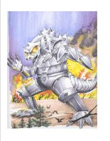 MechaGodzilla Attacks by RaySee