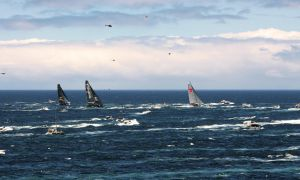 The maxis turn South, Sydney to Hobart, 2014 by CouchyCreature