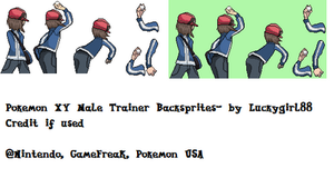 Pokemon X and Y Trainer backsprite- Complete by luckygirl88