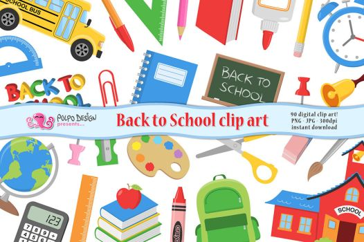 Back to School clipart by PolpoDesign