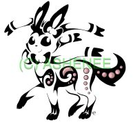 ::sylveon tribal:: by Ashenee