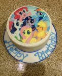 MLP Friendship is Magic Birthday Cake by extraphotos