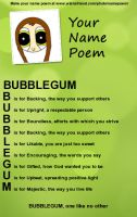 Bubblegum's name poem by henname399