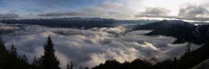 Sea of clouds over Walchensee by vttiste
