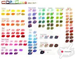 Copic Ciao Colour Chart by chamoise