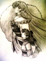 Sesshomaru and Rin by blackorchid2007